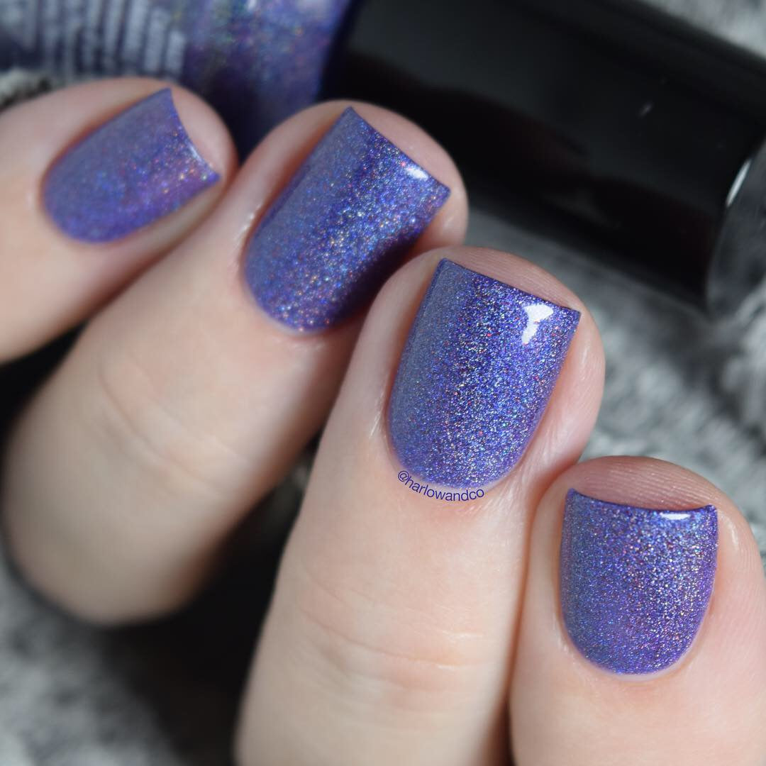Girly Bits Protect Your Girly Bits purple holographic nail polish
