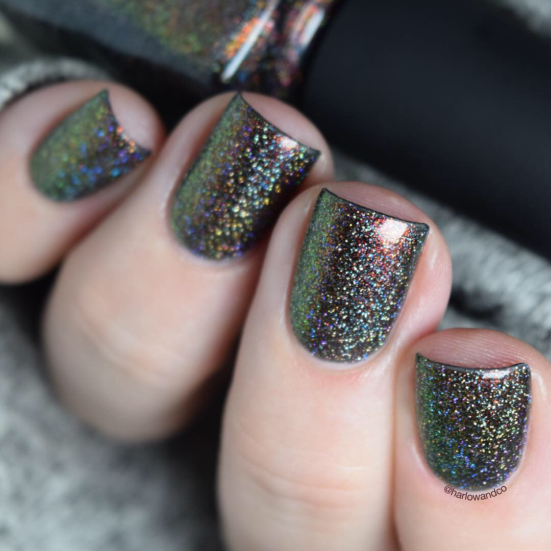 ILNP Candlelight holographic nail polish Color Kissed Ultra Holos After Dark Collection