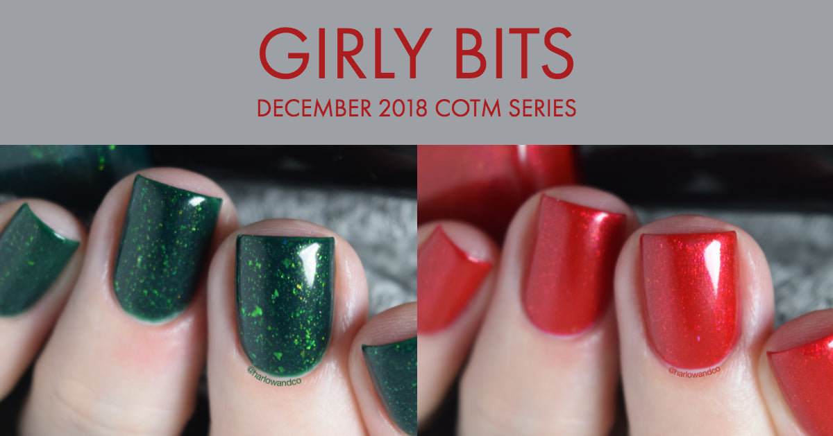 Girly Bits December 2018 Colour of the Month Series nail polish