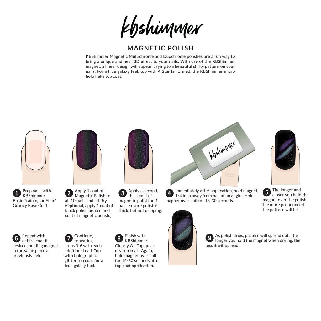 KBShimmer Magnetic Nail Polish Instructions | Harlow & Co.