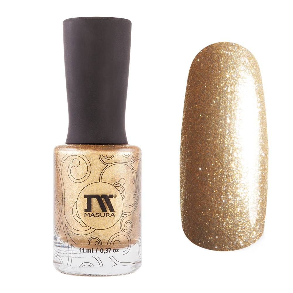 Masura Crisp gold metallic nail polish Golden Collection