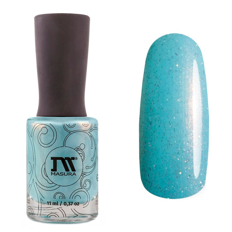 Masura Asgard light blue shimmer nail polish Golden Collection