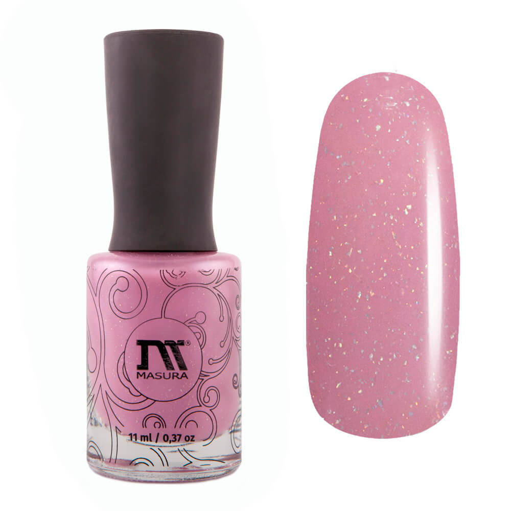 Masura Cutie pink holographic nail polish Golden Collection
