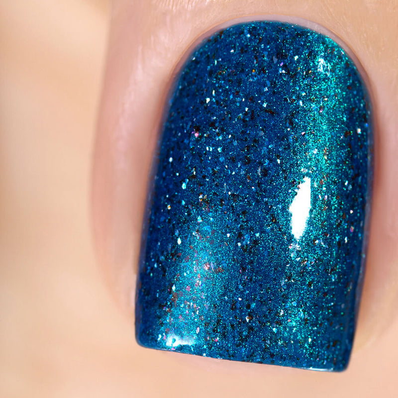 Masura Cocoon blue teal holographic nail polish swatch Golden Collection