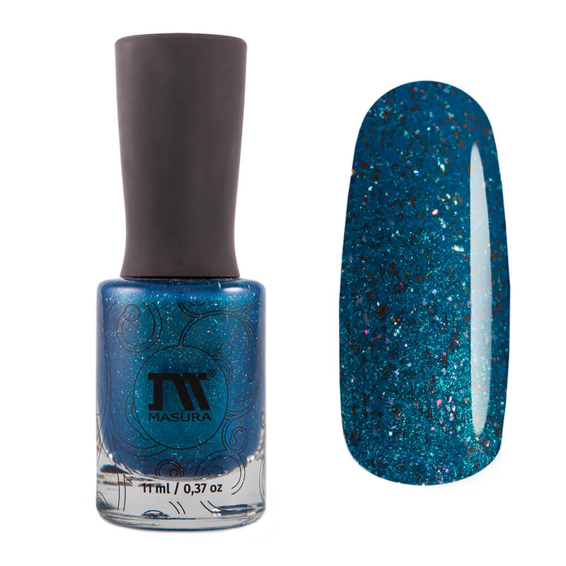 Masura Cocoon blue teal holographic nail polish Golden Collection