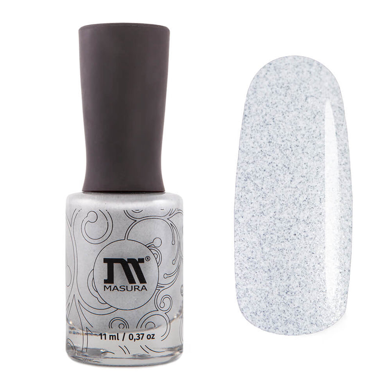 Masura Casual white nail polish with black flecks Golden Collection
