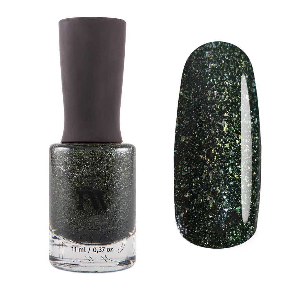 Masura Forest King Bride dark green holographic nail polish Golden Collection