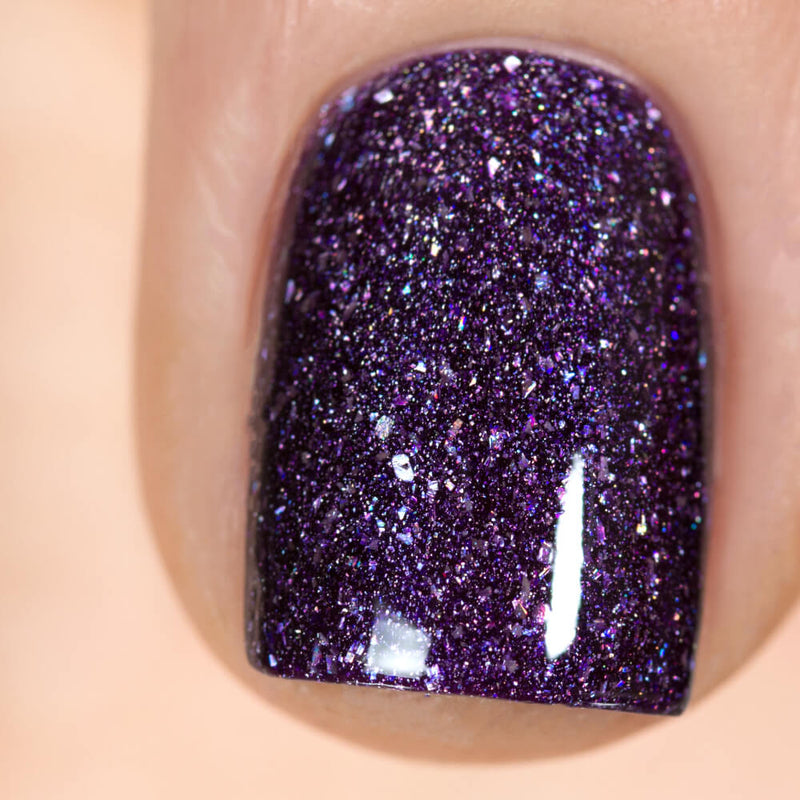 Masura Blueberry Holo dark rich holographic nail polish swatch Winter Holidays Collection