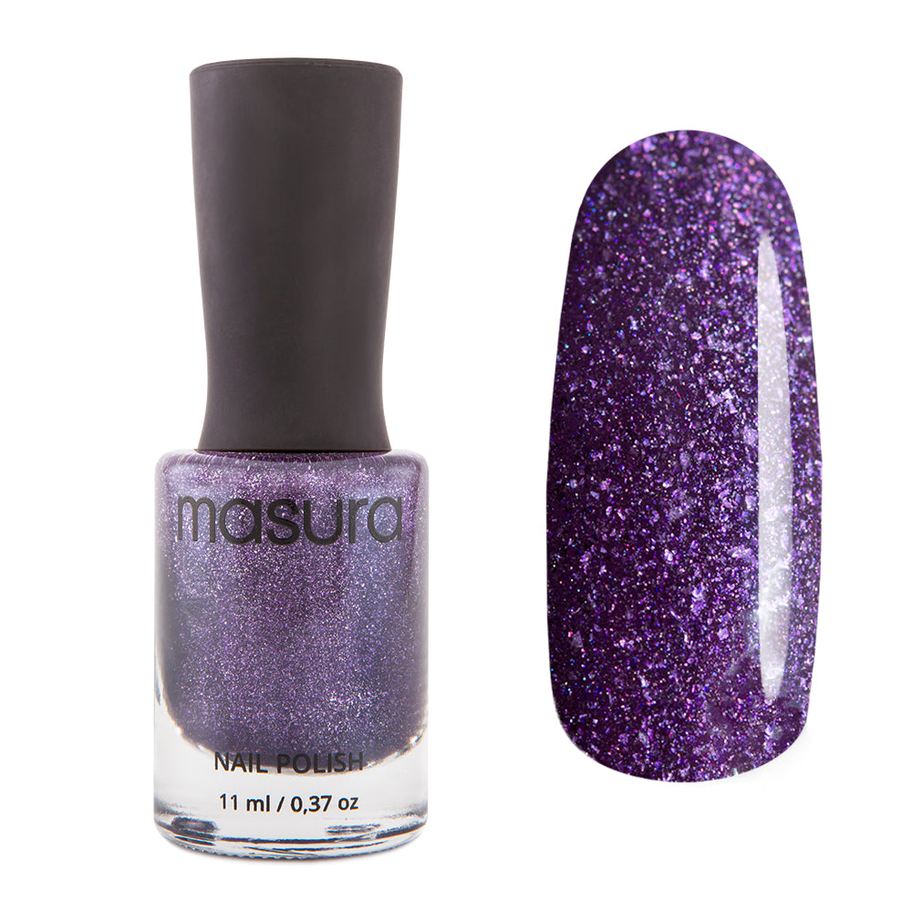 Masura Blueberry Holo dark rich holographic nail polish Winter Holidays Collection