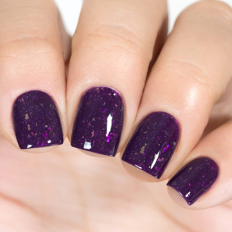 Masura Grape Juice rich dark purple crelly nail polish swatch Winter Holidays Collection