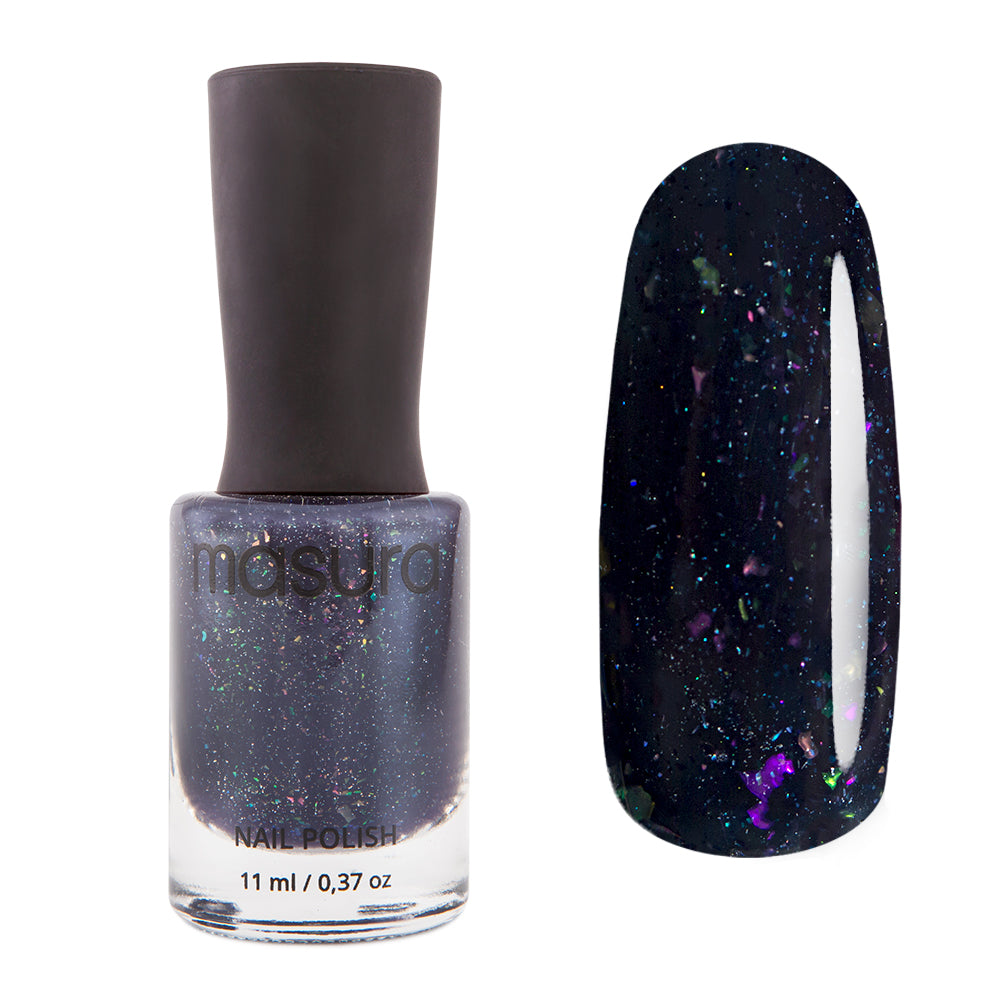 Masura Navy Blaser black crelly nail polish Winter Holidays Collection