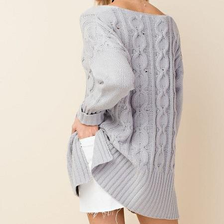 Oversized Cable Knit Pullover