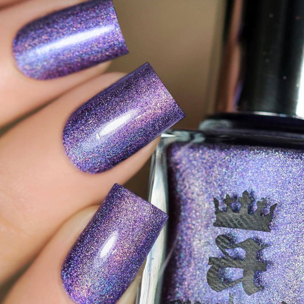 A-England The Scent of Azaleas blue-violet holographic nail polish swatch