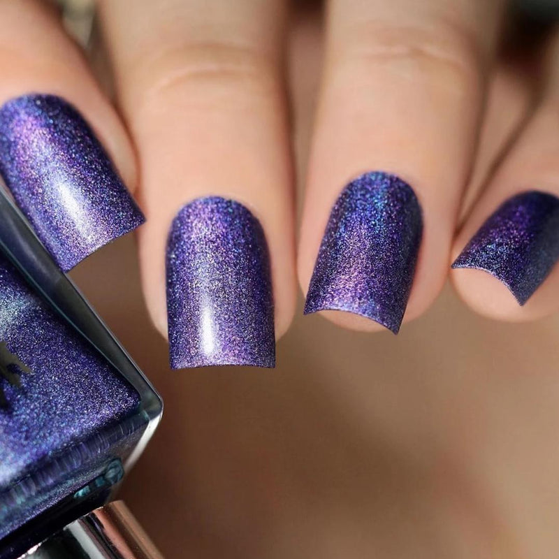 A-England New Romantic violet holographic nail polish swatch