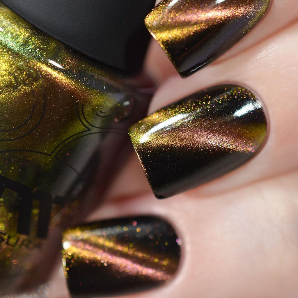 Masura Moscow At Night multichrome magnetic nail polish swatch Precious Stones Collection