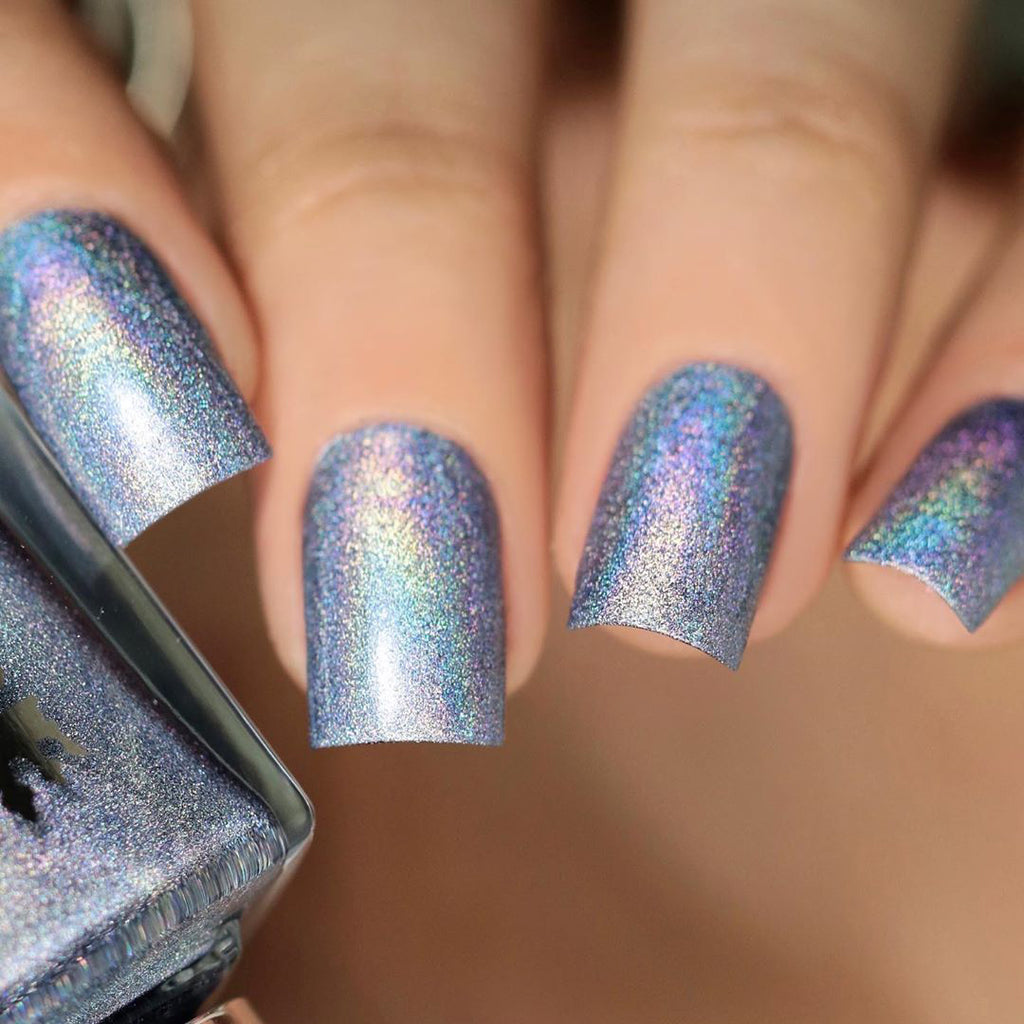 A-England Pride Without Prejudice light blue holographic nail polish swatch
