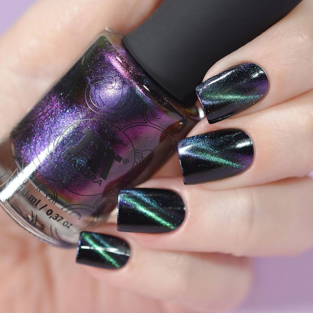 Masura Northern Lights multichrome magnetic nail polish swatch Precious Stones Collection