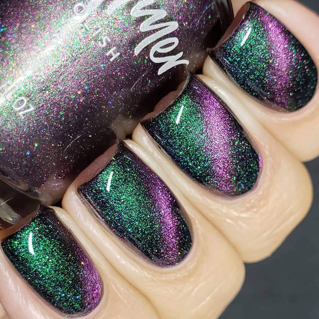 KBShimmer I Feel Pine magnetic multichrome nail polish