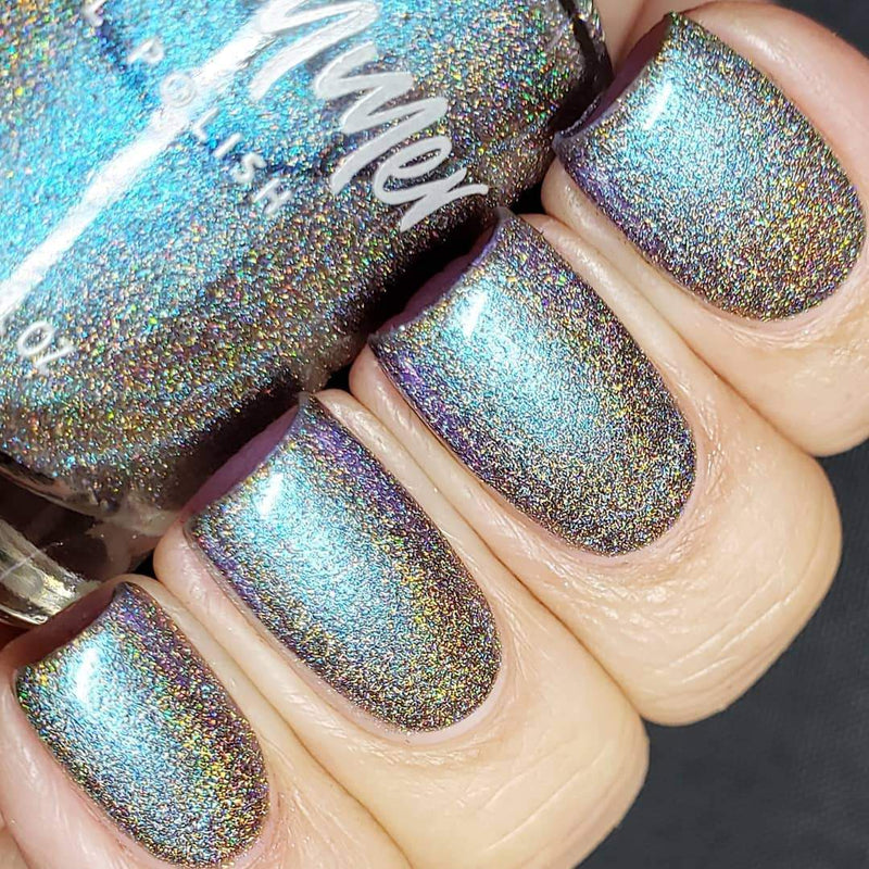 KBShimmer Everyday I'm Shovelin' holographic multichrome nail polish