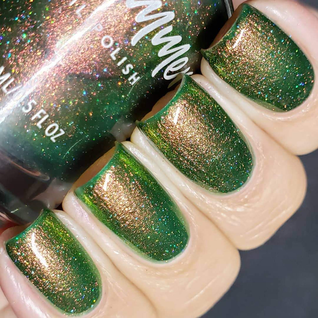 KBShimmer Living the Hygge Life green copper shimmer nail polish