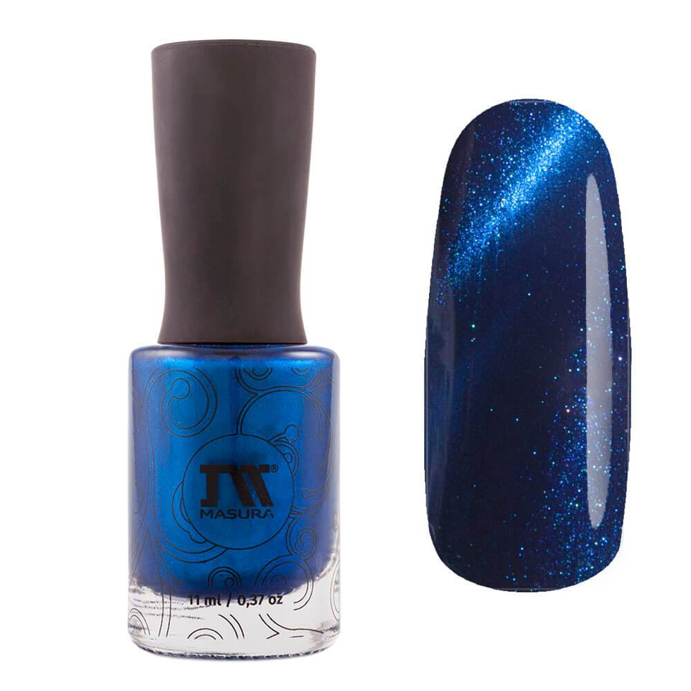 Masura Ocean Pearl dark blue magnetic nail polish Glare on the Water Collection