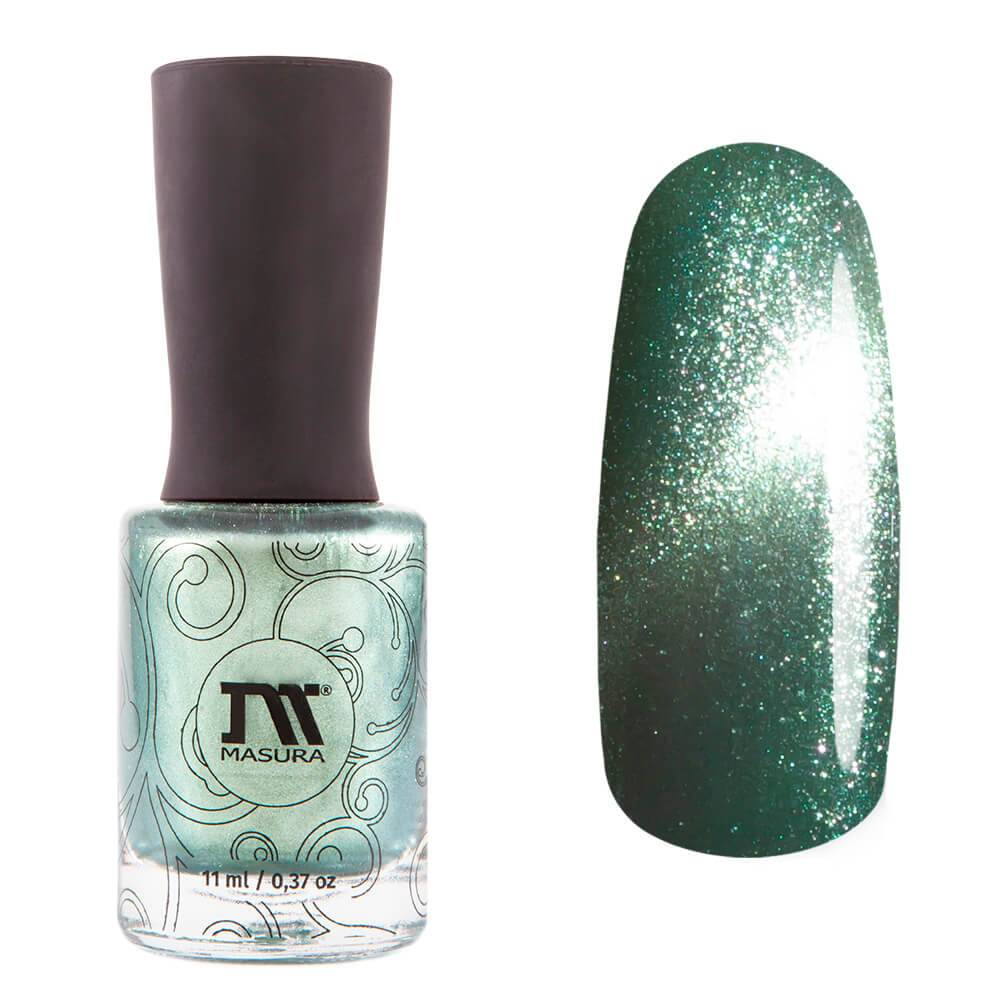Masura Persian Bay green magnetic nail polish