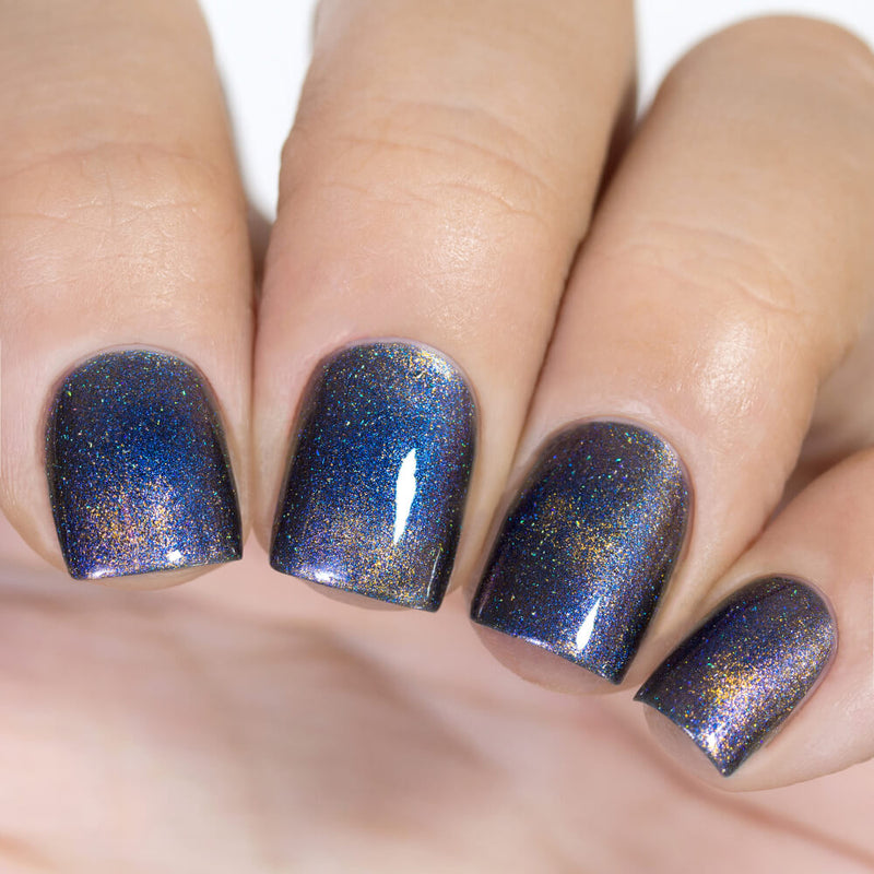 Masura Sun and Stars magnetic nail polish swatch Winter Holidays Collection