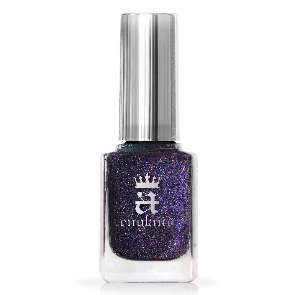 A-England Lenore deep purple holographic nail polish