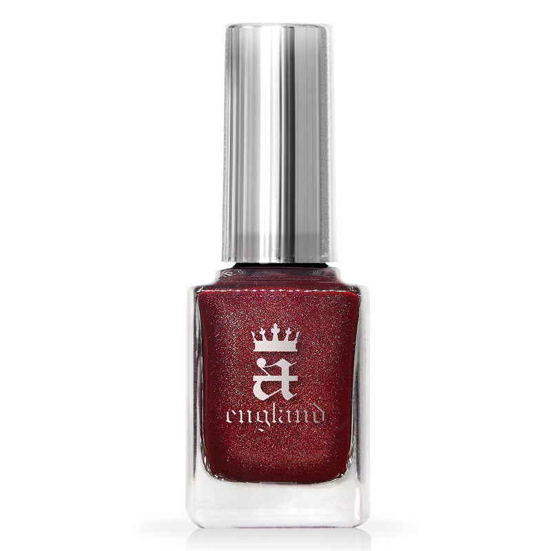 A-England Nevermore ruby-red holographic nail polish