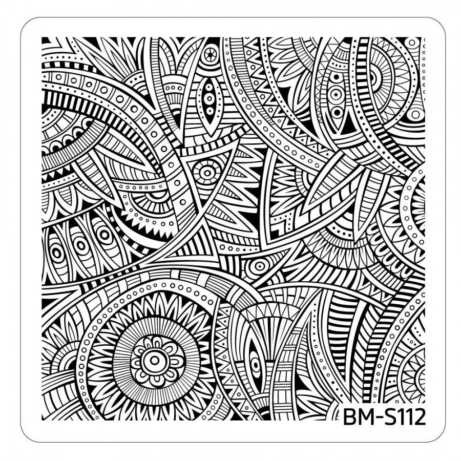 Paisley Flow Stamping Plate - Thriving Tribal