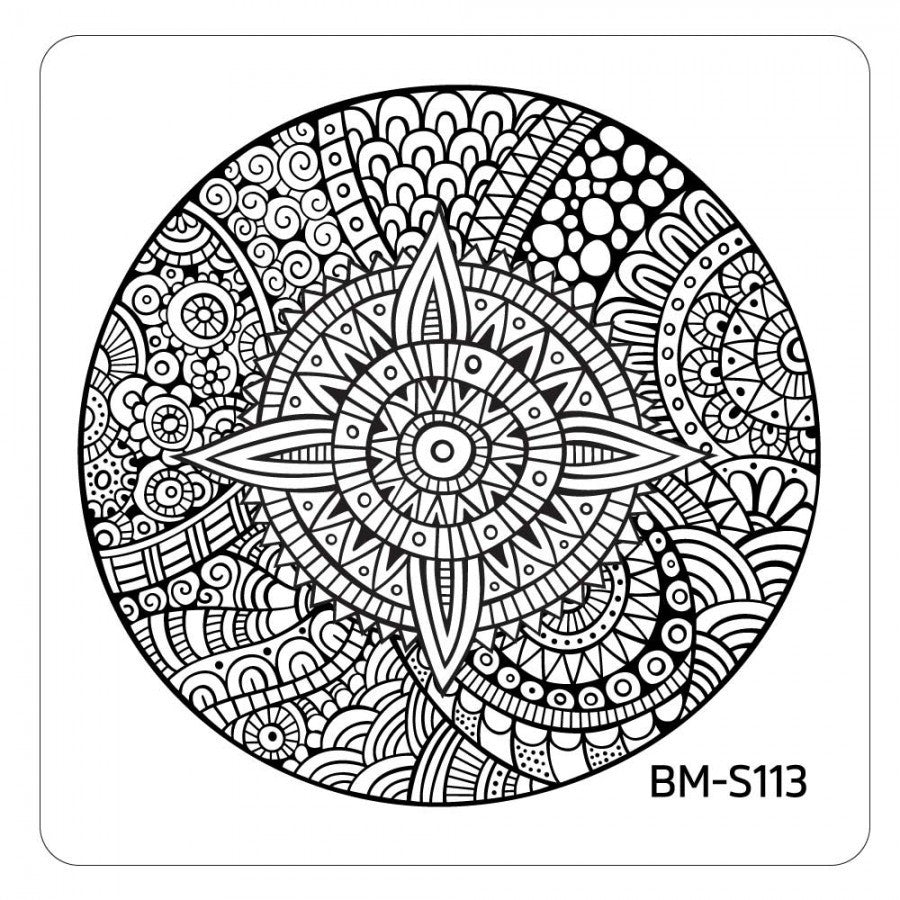 Paisley Flow Stamping Plate - Kaleidoscope Medallion