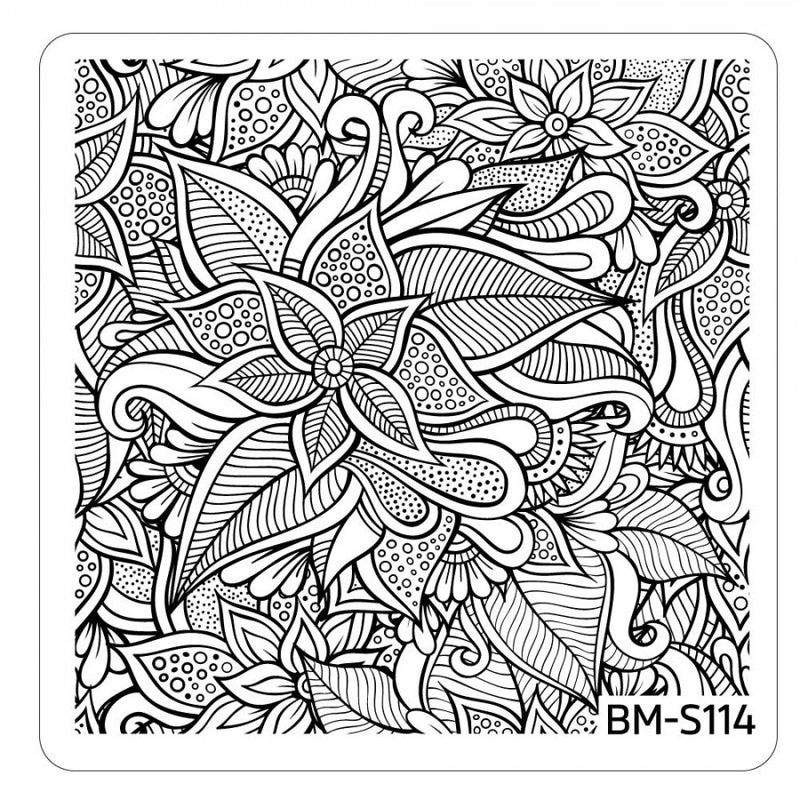 Paisley Flow Stamping Plate - Flourishing Beauty