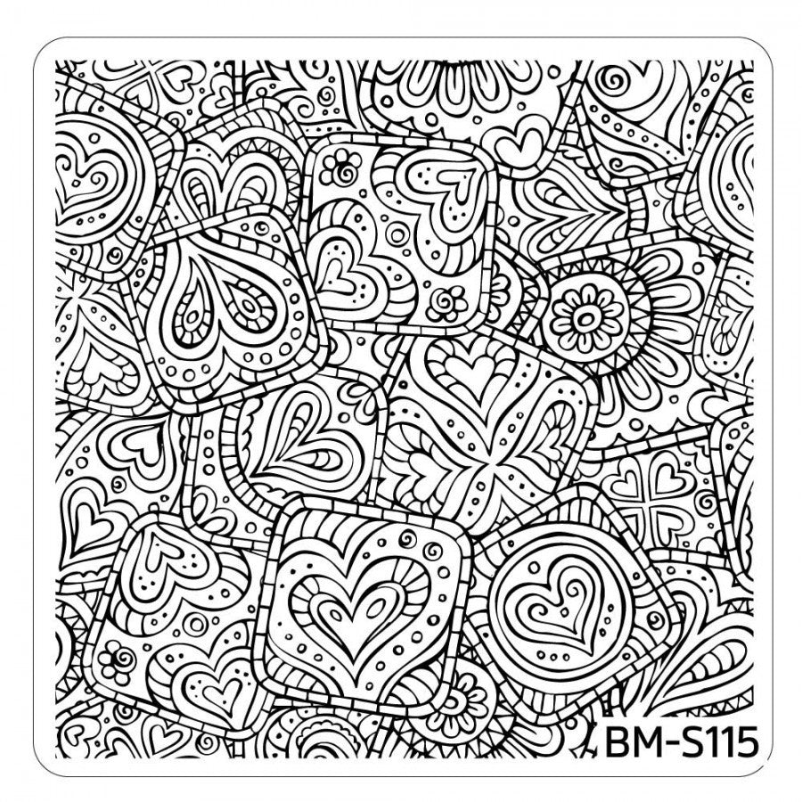 Paisley Flow Stamping Plate - Hearts Abound