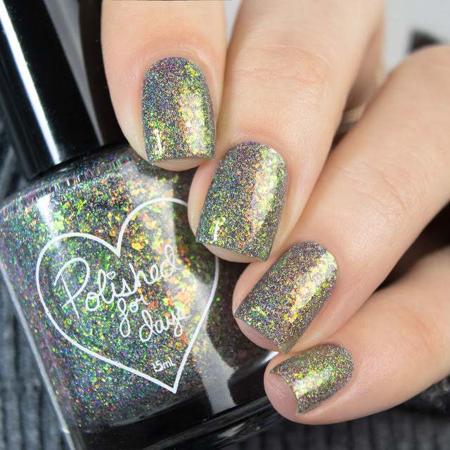 Polished for Days Birch flakie nail polish Woodland Holiday Collection
