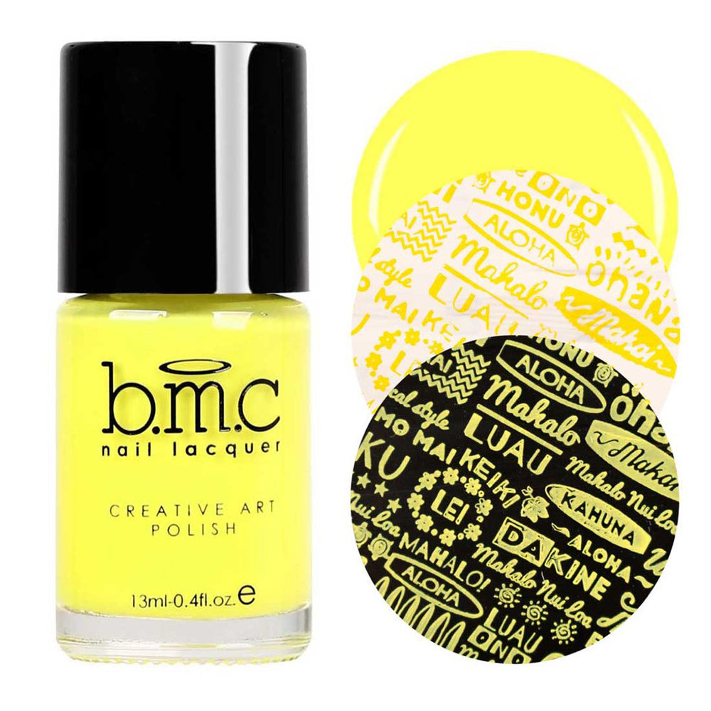 Bundle Monster Arctic Equinox yellow stamping nail polish