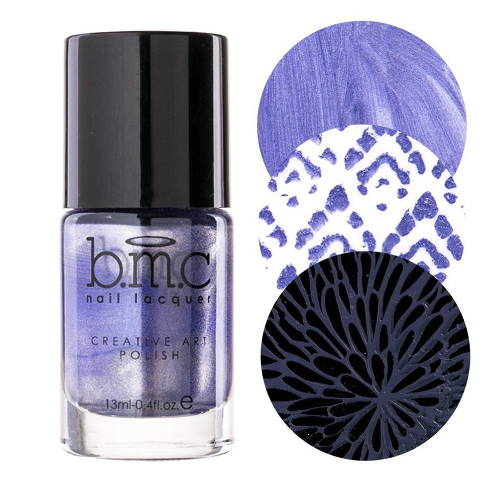 Bundle Monster Astrid violet metallic stamping nail polish