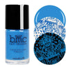 Bundle Monster Crystallized bright blue stamping nail polish
