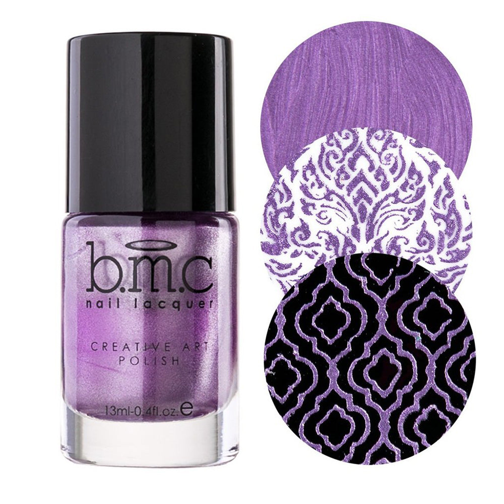 Bundle Monster Dear Violet metallic stamping nail polish