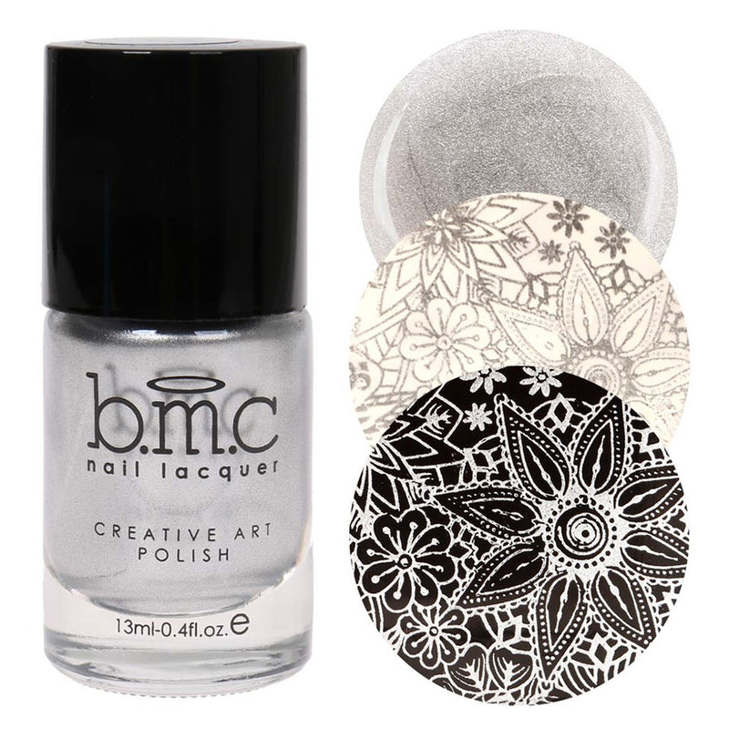 Bundle Monster Freedom Ring silver stamping nail polish