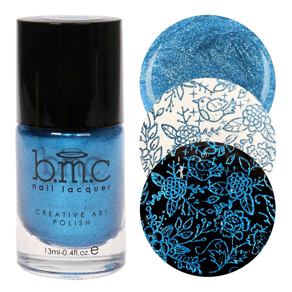 Bundle Monster I Bleed Blue stamping nail polish