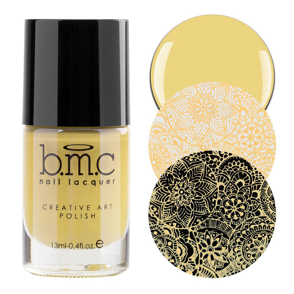 Bundle Monster LOL pale yellow stamping nail polish