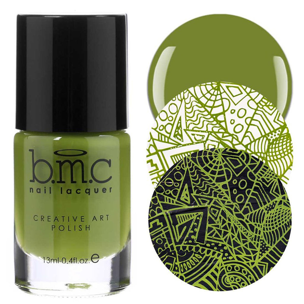 Bundle Monster Limelight stamping nail polish