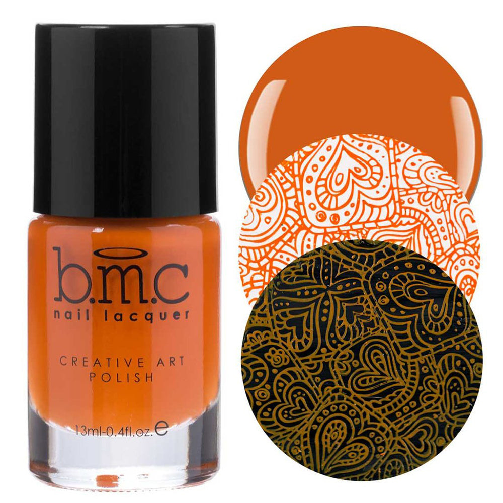 Bundle Monster Marmalade warm orange stamping nail polish