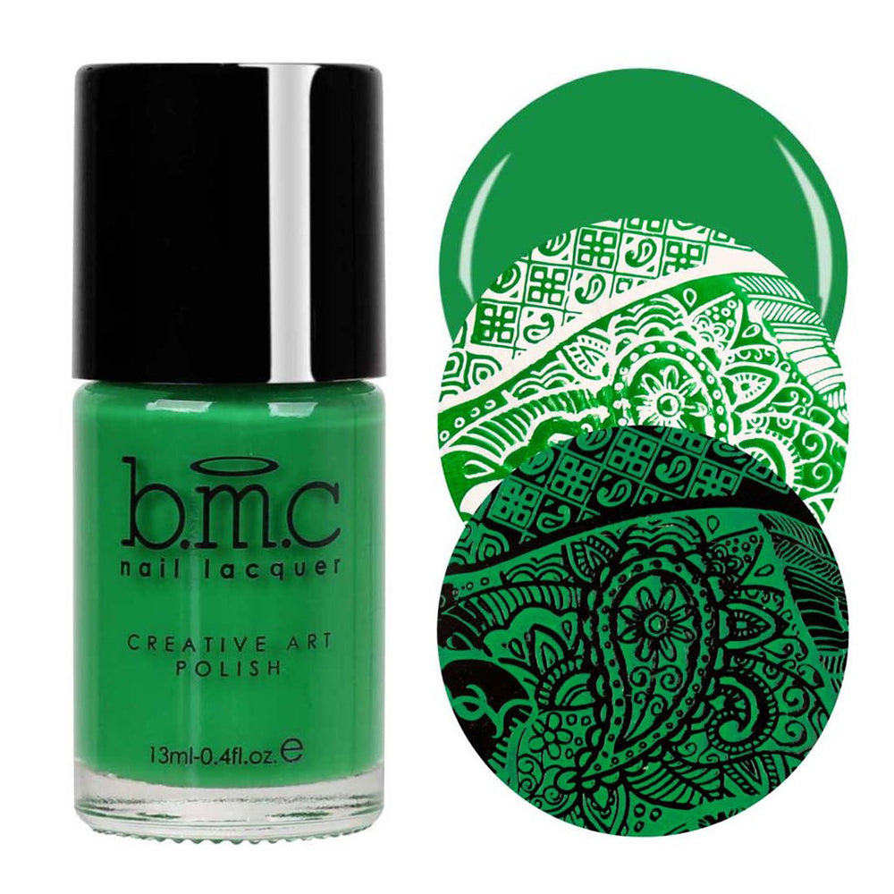 Bundle Monster Northern Lights hunter green stamping nail polish