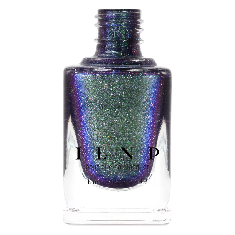 ILNP Bundled Up GREEN TO BLUE HOLOGRAPHIC DUOCHROME NAIL POLISH