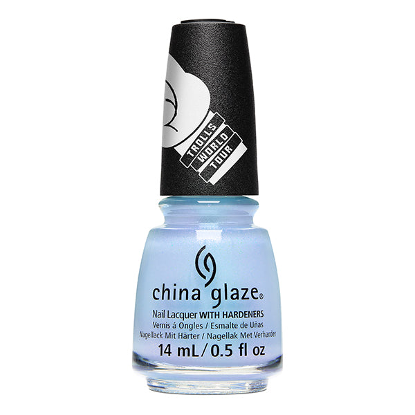 China Glaze Chill In Symphonyville light blue shimmer nail polish Trolls World Tour Collection