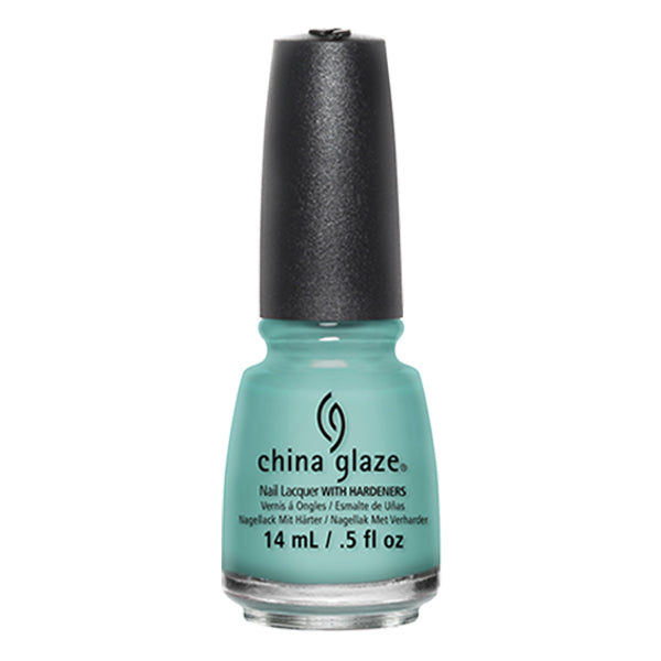 China Glaze For Audrey turquoise creme nail polish