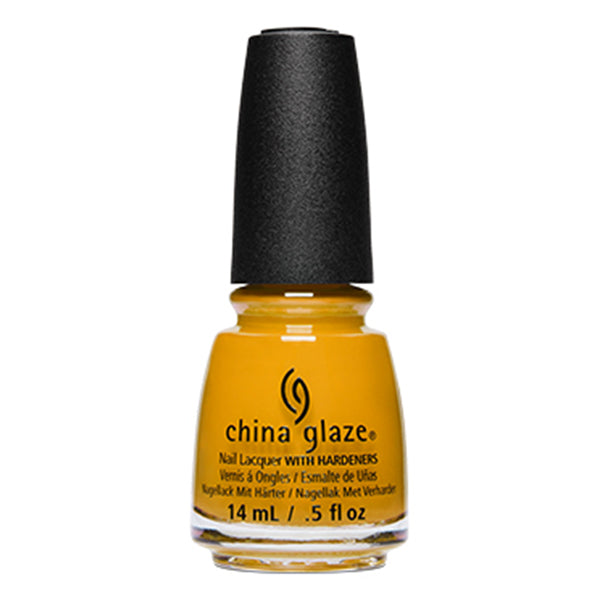 China Glaze Mustard the Courage creme nail polish