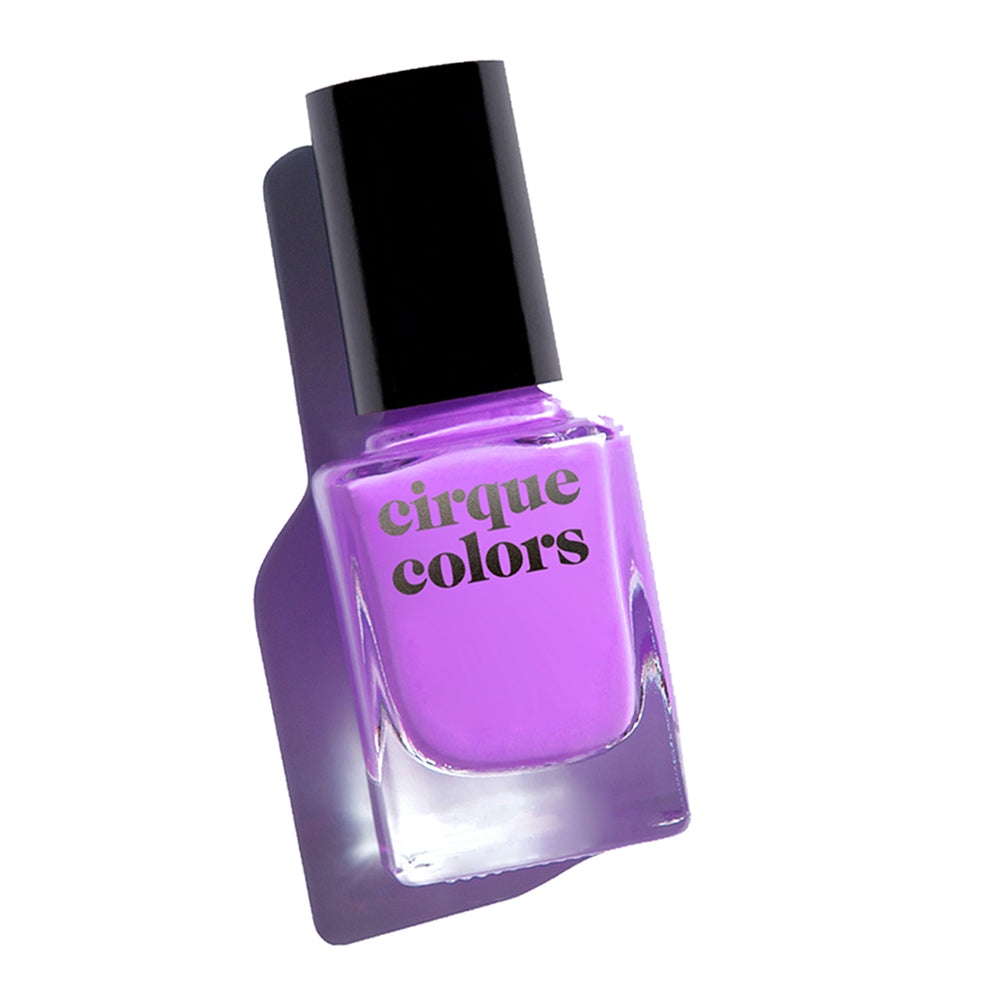 Cirque Colors Euphoria neon purple creme nail polish Vice 2020 Collection