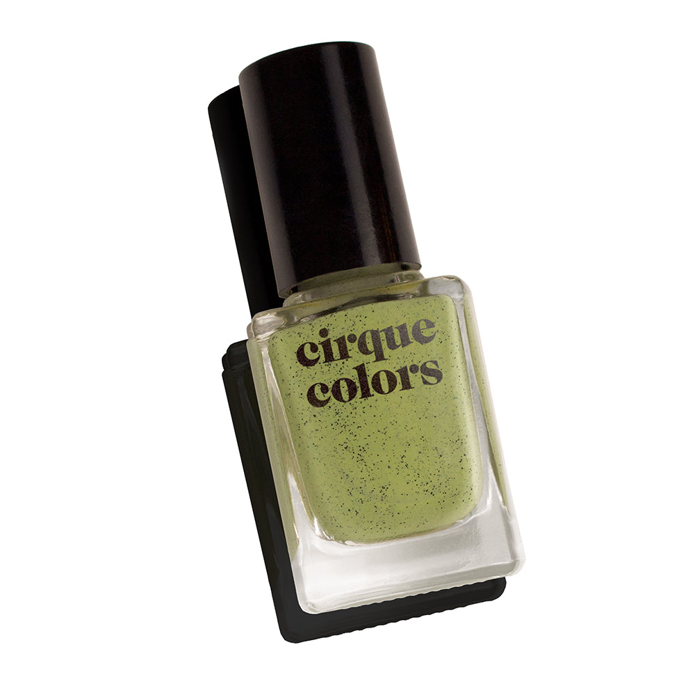 Cirque Colors Pistachio moss green speckled nail polish